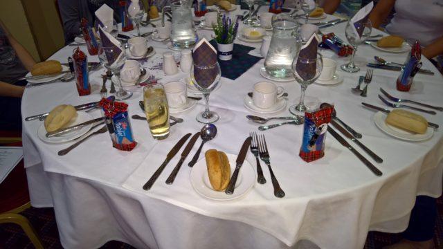 Tisch Schottischer Abend